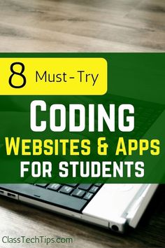 8 Must-Try Coding Websites & Apps for Students - Class Tech Tips With mobile and web-browser based tools, students of all ages can explore computer science.Here is a list of 8 awesome coding websites coding apps for students. Computer Class, Computer Coding, Computer Technology, Computer Programming, Digital Technology, Computer Science, Computer Engineering, Medical Technology, Energy Technology