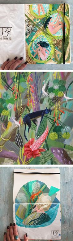 Jungle illustration by Sofia Moore