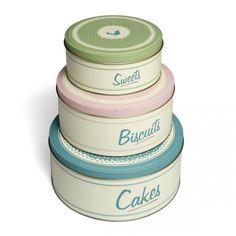 Retro Cake Tins - Set of 3