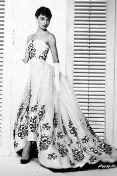 Audrey Hepburn in Sabrina, wearing Givenchy