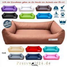 Dieses Modell bietet hohe und bequeme Ränder, sowie eine besonders weiche und gut befüllte Liegefläche. Es eignet sich besonders gut für Hunde die gerne...