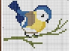 Terrific Pics Cross Stitch bird Tips Blue bird cross stitch Tiny Cross Stitch, Cross Stitch Bookmarks, Cross Stitch Cards, Cross Stitch Animals, Cross Stitch Flowers, Cross Stitching, Cross Stitch Embroidery, Embroidery Patterns, Bird Embroidery