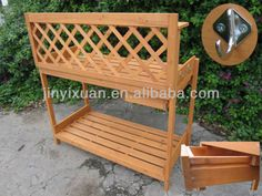 Garden Wooden Plant Stand Table / Outdoor Potting Bench With One Drawer - Buy…