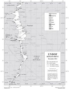 Die Pufferzone auf den Golanhöhen: Im Osten Syrien, im Westen Israel, im Norden der Libanon