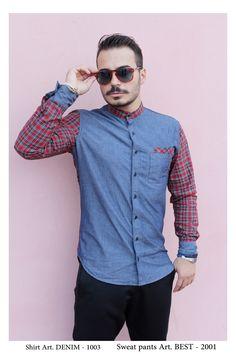 • NEW COLLECTION •   Shirt Mod. DENIM - 1003 Sweat Pant Mod. BEST -2001  Model: Glori Velko  Contact: vekoss4@gmail.com