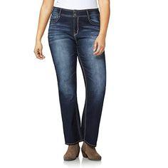 Juniors' Plus Size Wallflower Double-Button Luscious Curvy Bootcut Jeans, Teens, Size: Purple Stretch Pants, Stretch Denim, Stretch Fabric, Junior Plus Size, Pants For Women, Clothes For Women, Juniors Jeans, Curvy Fit, Plus Size Women