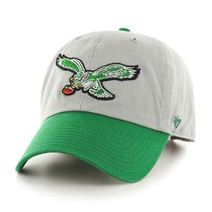 save off f344d 89c8f Philadelphia Eagles Clean Up Two-Tone Gray 47 Brand Adjustable Hat