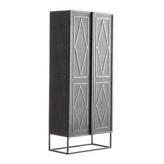 wisteria - Soft-Industrial Metal Cabinet