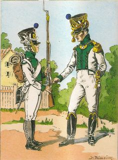 French; Imperial Guard, Pupilles, 5th Battalion Pupille & Officer, Grande Tenue, 1812