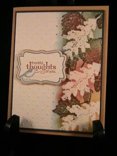 Thankful Thoughts - Stamp Class 10/11 by susie nelson - Cards and Paper Crafts at Splitcoaststampers by lorraine