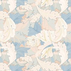 Floral pattern inspired by William Morris's design by rawpixel William Morris Patterns, Vintage Floral Wallpapers, Image Fun, Free Illustrations, Flower Illustrations, Flower Patterns, Pattern Flower, Antique Art, Vintage Images