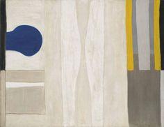 thunderstruck9: William Scott (British, 1913-1989), Blue Form on White, 1964. Oil on canvas, 155.2 x 200.5 cm.