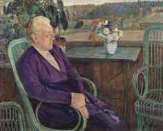 Mikhail Nesterov - Portrait of The S. I. Tyutchev 1928