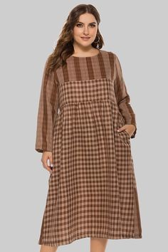 Curve Girl Plus Size Clothing - Women's Plus Size Desi Clothing      Trendy Checks N Plaid Casual Dress      $30.99      Retail Price:$60.99 Plus Size Dresses, Plus Size Outfits, Trendy Outfits, Short Dresses, Formal Skirt And Top, Skirt And Top Set, Curve Girl, Plus Size Fashion, High Fashion