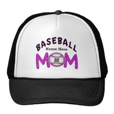 Personalized Baseball Mom Hats with your child s Jersey NUMBER and NAME.  Cute Personalized Baseball Mom 30c30015cb66