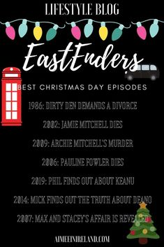 A list of the best ever EastEnders Christmas Day episodes ever. #eastenders #blogmas #christmaseastenders #christmas
