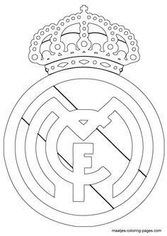 Real Madrid Logo Coloring Page Real Madrid Logo Real Madrid Cake Real Madrid