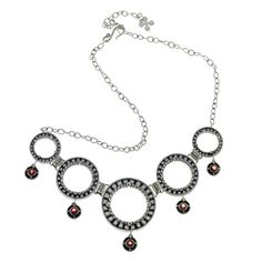 Get Kamon Statement Sterling Silver And Garnet Necklace. Inspired by designs of Japanese family crests. Garnet stone is known to bring courage and success! Japanese Family Crest, Clean And Shiny, Edgy Chic, Garnet Stone, Garnet Necklace, Handmade Silver, Silver Jewelry, Crests, Sterling Silver