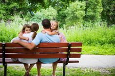 Family bench pose - just have the parents facing each other with foreheads touching.