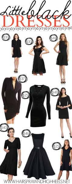 "Hairspray and High Heels: ""A Jersey Girl's Guide to Beauty"": 10 Little Black Dresses Under $50"