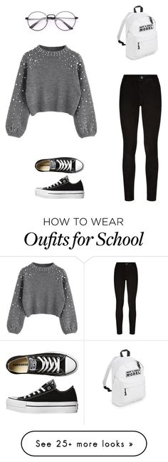 """Go to school winter outfit"" by mariajcboix on Polyvore featuring Paige Denim and Converse"