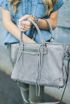 Rebecca Minkoff Regan Satchel Blonde Expeditions