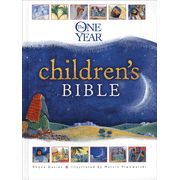 The One-Year Children's Bible   -  The One Year Children's Bible is a perfect tool for transitioning from a children's Bible to a real Bible.  The content is in historical rather than biblical order and there are 365 stories in this children's bible.  There is reference to things like food, homes, work and daily life during Bible times.
