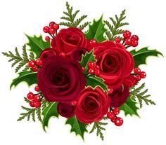 Christmas Rose Decoration PNG Clip Art Image