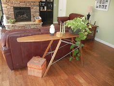 Ironing board sofa table