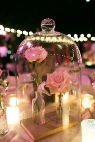 Beauty and the Beast centerpieces. My future wedding decor :D Perfect Wedding, Our Wedding, Dream Wedding, Wedding Disney, Wedding Beauty, Wedding Gifts, Disney Weddings, Fairytale Weddings, Trendy Wedding