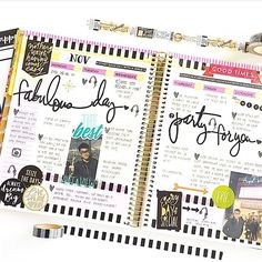 Decorated planner.