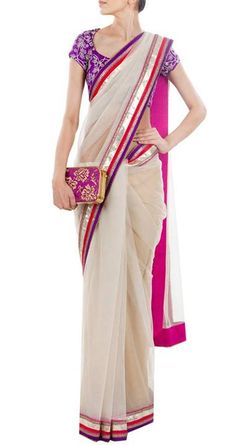 what to wear to an indian wedding   saree with blouse
