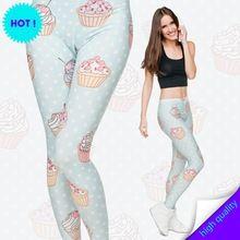 Mix Da Cidade 3D Impressão Muffin Jersey Leggings Moda Casual Mulheres/menina…