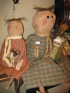 We offer a great selection of Country Primitive Dolls on our website www.theredbrickcottage.com .