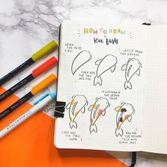 I know you want this - KOI FISH tutorial 🌟👏 like how detailed it is and the patches of colours 😍 Awesome doddle from ❤️ - Use… Bullet Journal Notebook, Bullet Journal Ideas Pages, Bullet Journal Spread, Bullet Journal Layout, Bullet Journal Inspiration, Journal Pages, Bullet Journal Cover Page, Bullet Journals, Bullet Journal Aesthetic
