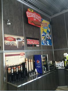 Nestle using Clik Clik over their condiment and beverage area. Slush Puppy, Increase Sales, Retail Stores, Hanging Signs, Pepsi, Beverage, Drink, Liquor, Drinking