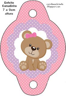 kit festa ursinha rosa grátis para imprimir Dibujos Baby Shower, Imprimibles Baby Shower, Scrapbook Bebe, Baby Girl Scrapbook, Diy Baby Shower Decorations, Mickey Vintage, Teddy Bear Birthday, Baby Shawer, Gold Baby Showers