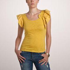 3 Suisses Collection Tricou din doua materiale cu maneci fluture pentru femei - http://outlet-mall.net/outlet/outlet-femei/bluze/3-suisses-collection-tricou-din-doua-materiale-cu-maneci-fluture-pentru-femei/