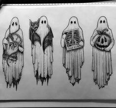 Spooky Tattoos, Cool Tattoos, Wing Tattoos, Art Sketches, Art Drawings, Angel Tattoo Drawings, Ghost Tattoo, Tatuagem Old School, Tattoo Flash Art