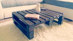 "Make your own pallet coffee table! Easy making, have fun! I hope this video will motivate you to ""do it yourself""! :)  Don't forget to check the tutorial video…"