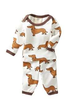 Dachsund Lap Tee & Legging Set (Baby Boys) Perfectly suited for our family. Cute Kids, Cute Babies, Baby Needs, Cool Baby Stuff, Baby Fever, Future Baby, Beautiful Babies, Baby Boy Outfits, Dachshund Clothes