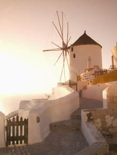 Windmill in Oia, Santorini, Cyclades-islands Greece, Europe (angelo-cavalli)