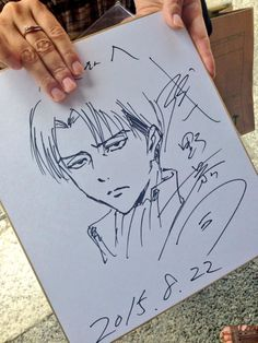 Caption : Levi Heichou drawing by Hajime Isayama Me : ARRGGHH ... LEVI WHY ARE YOU SOO COOL!! I'M FUCKING LOVE THAT DRAW!!!
