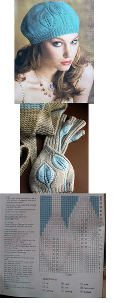 Baby Knitting Patterns Mittens Knit Leaf Hat: could easily adjust for baby/infant Knitting Charts, Baby Knitting Patterns, Knitting Designs, Knitting Stitches, Free Knitting, Knitting Projects, Knitting Accessories, Crochet Lace, Crochet Hats