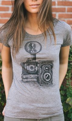 "Calling all photographers... this ""vintage camera"" design is for YOU! :) Every shirt sold donates $7 to Now I Lay Me Down To sleep to help provide remembrance photography sessions to parents who lost a newborn."