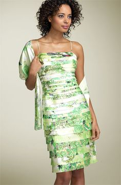 JS Collections Print Laser Cut Dress available at #Nordstrom