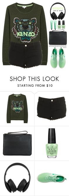 """""""15.05.16"""" by palmtreesandpompoms ❤ liked on Polyvore featuring Kenzo, Topshop, Coccinelle, OPI, Monster and NIKE"""