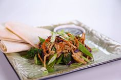 Clinton Kelly's Moo Shu Chicken and Vegetables #thechew