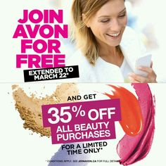 OFFER EXTENDED! Join FREE + 35% Off Beauty! Contact me today for details.