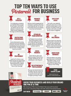 Top 10 ways to use Pinterest for business [infographic].